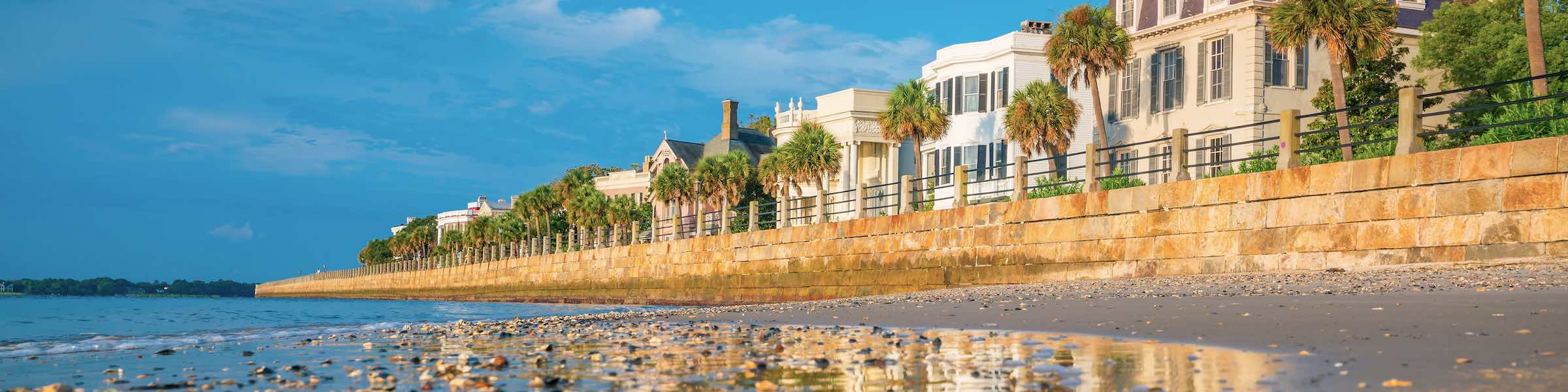 Historic mansions along the Charleston Battery.