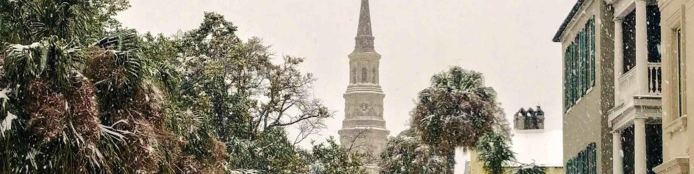 Charleston during a rare snowstorm.