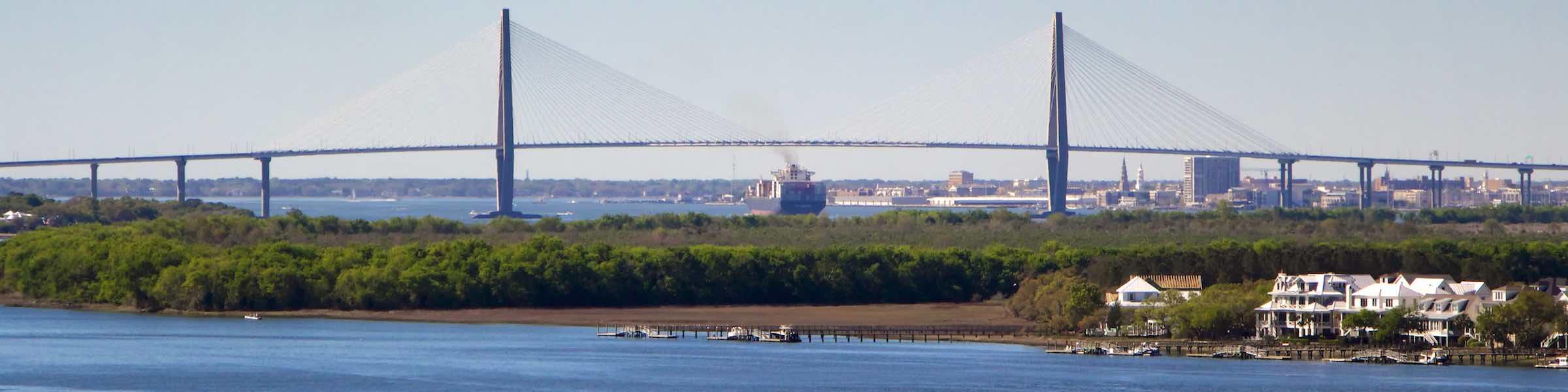 The Ravenel Bridge, Charleston, SC.